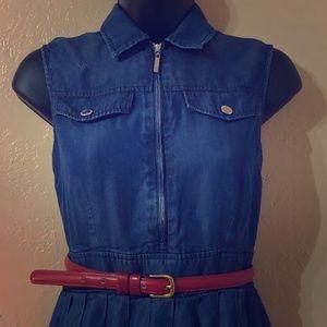 IVANKA Trump denim color sleeveless dress size 2